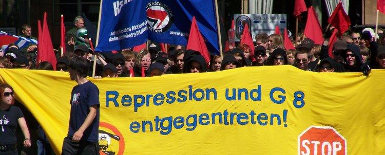 Repression und G8 entgegentreten - Stop G8